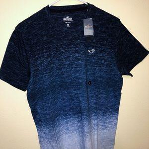 Hollister dark blue ombré tee shirt